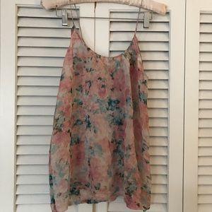 NWOT Tucker floral silk camisole
